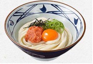 丸亀製麺 明太釜玉うどん