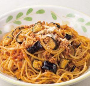 サイゼリヤの日替わりランチ5「ナスのミートソーススパゲッティ」