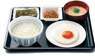 なか卯 目玉焼き納豆朝定食