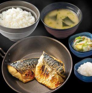 吉野家の夜定食「炙り塩鯖定食」