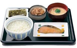 なか卯 牛鮭朝定食