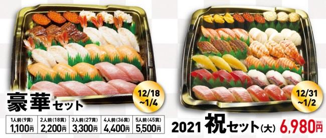 くら寿司の年末年始豪華セット