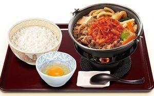 すき家 キムチ牛すき鍋定食