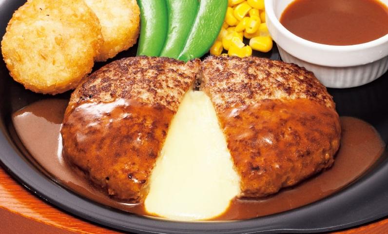 ガストのチーズINハンバーグ399円2016年10月19日まで