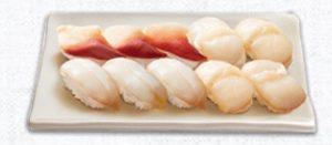 はま寿司の持ち帰り、貝三昧(10貫)