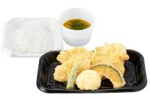 さん天持ち帰り「鶏たま天ぷら定食」590円
