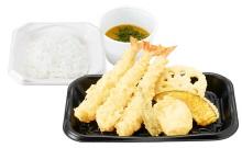 さん天持ち帰り「上海老天ぷら定食」690円