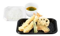 さん天持ち帰り「海老天ぷら定食」490円