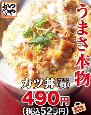 かつやのカツ丼490円