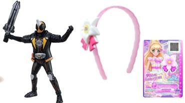 ハッピーセット6月~7月仮面ライダーゴーストとアイカツスターズおもちゃの一例