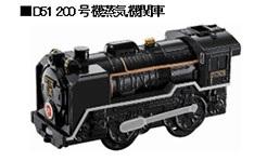「プラレール2017、D51200号蒸気機関車」5