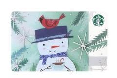 スタバ2017年11月1日「スターバックス カード スノーマン」
