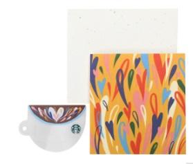 スタバ「コーヒーカップ グリーティング カード(スターバックス カード付)」