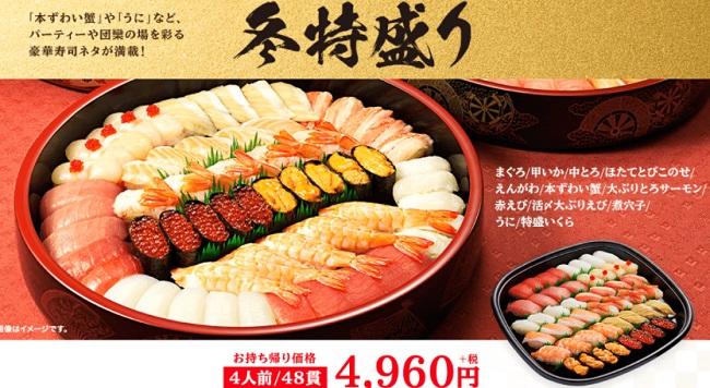 かっぱ寿司の正月「冬特盛り」2020年2021年