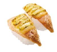 スシロー「炙りサーモンバジルチーズ」