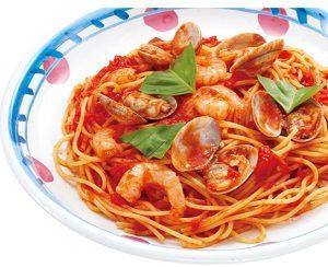 ジョリーパスタの日替わりランチ木曜日「あさりと小エビのトマトソース」