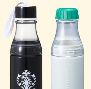 スタバ「ストラップサニーボトルブラック500ml、サニーボトルホワイト500ml」