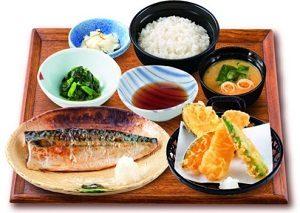夢庵の定番ランチ「塩さば焼定食」