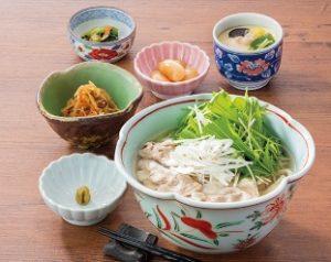 藍屋のランチ「水菜と豚肉のハリハリうどん定食」