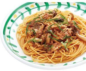 ジョリーパスタの日替わりランチ水曜日「牛肉としめじの醤油ソース~大葉風味~」