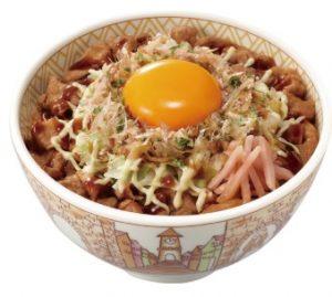 すき家「お好み焼き牛丼」2018年10月17日2