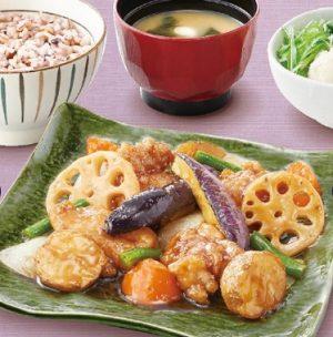 大戸屋の定食「鶏と野菜の黒酢あん定食」