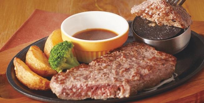 ココス「ビーフハンバーグステーキ」