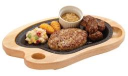 びっくりドンキー「ハンバーグ&コロコロステーキ」