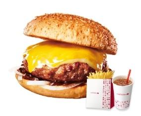 ロッテリア「肉厚チーズハンバーガー」