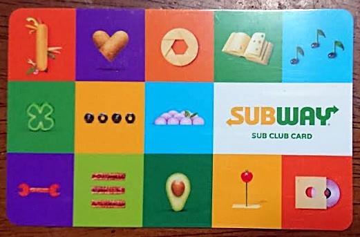 サブクラブカード実物