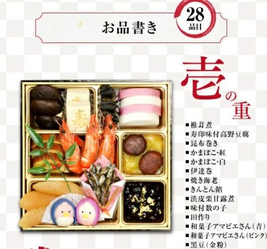 くら寿司おせち二段重の壱の重