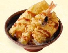 丸亀製麺の持ち帰り「天丼(えび、いか、かぼちゃ)」