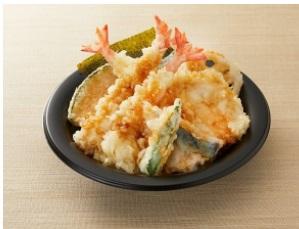 和食さとのテイクアウト「にぎやか海老天丼」