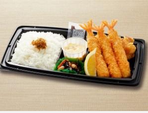 和食さとのテイクアウト「海老フライ&唐揚弁当」
