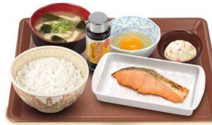 すき家朝定食「鮭朝食」