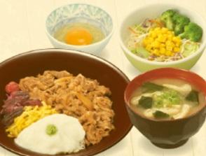 すき家「SUKIMIX・和のとろろ牛丼ランチセット」