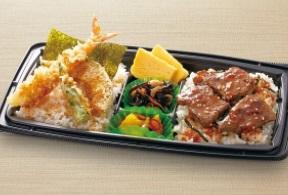和食さとのお持ち帰り「よくばりダブル丼(ステーキ&天丼)」