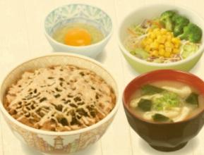 すき家「高菜明太マヨ牛丼ランチセット」