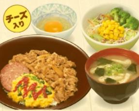 すき家「SUKIMIX・オムソーセージ牛丼ランチセット」