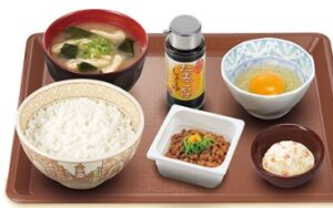 すき家朝定食「納豆朝食」