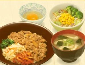すき家「SUKIMIX・ビビンバ牛丼ランチセット」
